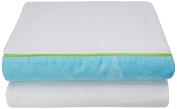 Garnier-Thiebaut 32458 Bon Voyage Cotton Flat Sheet 240 x 300 cm Turquoise