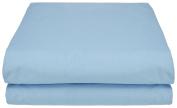 Garnier-Thiebaut 30370 Lana flat sheet cotton blue 300 x 240 cm