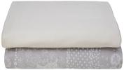Garnier-Thiebaut 31251 Secret Garden Flat Sheet Cotton 310 x 240 cm Grey