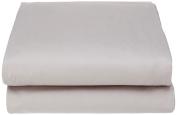 Garnier-Thiebaut 29922 Ava Flat Sheet Plain Cotton 300 x 270 cm Pearl Grey