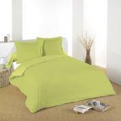 Lovely Casa d14820018 Alicia Lime Cotton Flat Sheet 180 x 290 cm