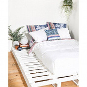 Desigual SHEET2 _ Stripe Sheet Bed for Two People with Pillowcases Cotton 280 x 240 cm White