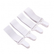 OUNONA 4pcs Bed Sheet Fasteners Adjustable Elastic Sheet Clips for Various Bed Sheets Mattress Covers Sofa Cushion Hospital Beds
