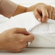 Sweet Night Nikos protège-oreiller Premium Mesh Waterproof, Hotel Quality Cotton 50 x 70 cm White