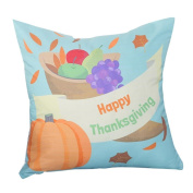 Happy Thanksgiving Pillow Case Throw Cushion Cover Mingfa Soft Cotton Linen Sofa Bed Home Pillowcase 45*45cm