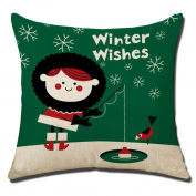 Christmas Pillow Case, KEERADS 2017 Sofa Bed Home Decoration Festival Square Cushion Cover