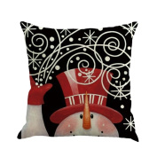 Cushion Covers, Pillow Cases , Honestyi Christmas Printing Dyeing Sofa Bed Home Decor Pillow Cover Cushion Cover , Flax