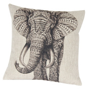 ZHJZ Home Cushion Cover Decor Elephant Pattern Pillow Cushion Cover