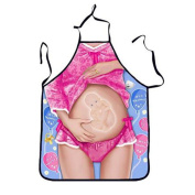 Ouneed Fashion Adjustable Kitchen Apron Funny BBQ Christmas Gift Funny Sexy Party Apron
