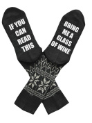 If You Can Read This Bring Me Beer Whisky Socks Luxury Cotton Novelty Socks by D & & R, Perfect for Gag Gift Funny Birthday Present