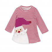 ZHUOTOP Kids Girls Santa Claus Striped Dresses Christmas Dress Cute Lovely Princess Dresses 6T