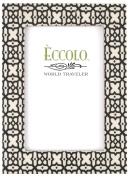 Eccolo World Traveller Naturals Wood Photo Frame, 10cm x 15cm , Persian Trellis, Geometric