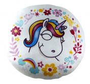 Cushion white Pillow Children Unicorn Phantasy