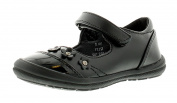 Princess Stardust New Younger Girls/Childrens Black Touch Fastening Shoes - Black - UK Sizes 4-10