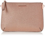 New Look Womens Flitter Curve Flat Clutch Gold
