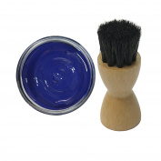 Woly Cobalt Blue Shoe Cream 50ml & Fresh Step Luxury Application Brush