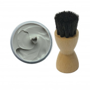Woly Grey Shoe Cream 50ml & Fresh Step Luxury Application Brush