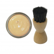 Woly Beige Shoe Cream 50ml & Fresh Step Luxury Application Brush