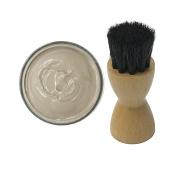 Woly Rauch Smoke Grey Shoe Cream 50ml & Fresh Step Luxury Application Brush
