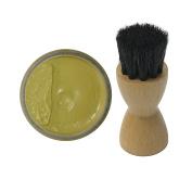 Woly Beige Birch Shoe Cream 50ml & Fresh Step Luxury Application Brush