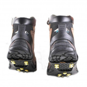 CGdiaoju 10-Studs Climbing Anti Slip Spikes Grips Practical New Snow Ice Crampon Cleats Shoes Cover