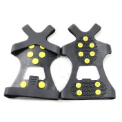 PriMI Climbing Anti Slip Spikes Grips Practical New Snow Ice Crampon Cleats 10-Stud Shoes Cover