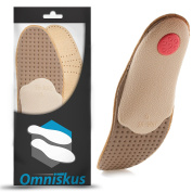 Real Leather Orthotic Insoles Metatarsal Arch Support Flat Feet Inserts