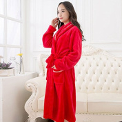 LKKLILY-Coral fleece men's ladies and couples thick robe clothing flannel pyjamas Hotel bathrobe