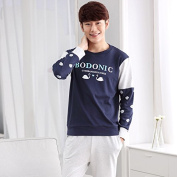 LKKLILY-In spring and autumn the couple pyjamas cotton long sleeve sports men and women's cotton clothing suit wearing HOME DRESS