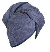 100% COTTON QUICK HAIR DRYING TOWEL TURBAN Twist Wrap Loop Button Hat Cap TERRY