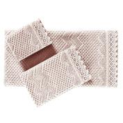 Five Queens Court Woven Jacquard Cotton Bath Towel, Blush