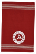 North Pole Express Reindeer Red Printed Kitchen Dish Towel
