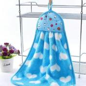 BENHAI 1 PC Kitchen Hanging Cute Hanging Cloth Soft Plush Dishcloths Hand Towel Tool Cloth