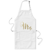 sunningq Gold Foil His N Hers Mr Mrs Matching Aprons