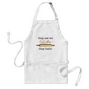 sunningq They See Me Rollin Vintage Funny Baker Adult Apron