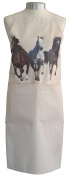 Horses Horse Galloping A Natural Cream Cotton Bib Apron - Baker Cook Gift