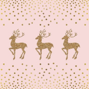 Ambiente Paper Napkins Lunch / Party / ca. 33x33cm Deer And Dots Rose - Christmas - Ideal As A Gift And Decoration