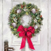 Ambiente Paper Napkins Lunch / Party / ca. 33x33cm White Wreath - Christmas - Ideal As A Gift And Decoration