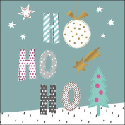 Ambiente Paper Napkins Lunch / Party / ca. 33x33cm Falling Star Green Ho Ho Ho - Christmas - Ideal As A Gift And Decoration