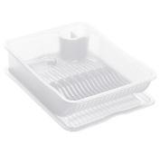 Rotho Tea Victims Pace Wonder Clear Plastic Washing Up Dish Rack 39.5 x 29.5 x 9.5 cm