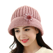KEERADS Women Winter Warm Knit Hat Wool Snow Ski Caps With Visor