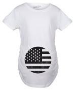 Crazy Dog Tshirts Maternity American Flag Pregnancy Tshirt Cool Patriotic USA Belly Bump Tee