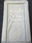 Deluxe Unisex Baby Waterproof Changing Mat with Raised Edges - Twinkle Twinkle Little Star, Do you know how loved you are. Bold Grey
