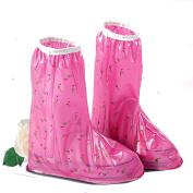 YNXing Fashion Waterproof Shoe Cover Thicker Wearable Rain Boots Waterproof Shoe Cover for Women