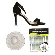 Perfection Secret Stoppers - Ladies' Clear Heel Protectors For High Heels - 3 Pair Pack in 3 Sizes