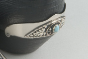 Genuine Turquoise Heel Guards Silver Plated
