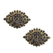 ElegantPark CG Women 2 Pcs Shoe Clips Leaf Design Rhinestones Wedding Prom Party Decoration Gift