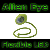 Green Alien Eye Bendy Flexible Rubberised LED Light 42cm Long Novelty Kids Camping Reading