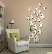 GxNI 3D Acrylic DIY Mirror Wall Stickers, Mirror Wall Stickers, Water Droplets Drip 0.08kg, Thick
