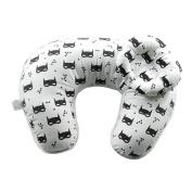 FORSHUYU Boppy Pillow 2Pcs Baby Pillows Detachable U-Shaped Maternity Breastfeeding Nursing Support Pillow